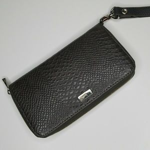 Jewell. By Thirty-One Charcoal Pebble Wristlet
